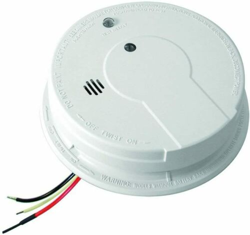 Kidde White Hardwire with Battery Backup Photoelectric Smoke Alarm