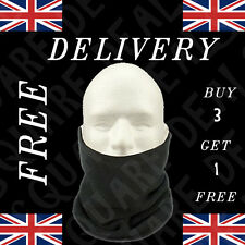 MENS BLACK POLAR FLEECE NECK WARMER LADIES SKI SCARF SNOOD FOOTBALL BIKE