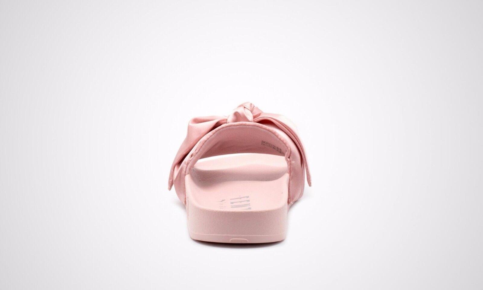 Puma x Pink-Puma Rihanna Fenty Slides Silver Pink-Puma x Silver Slippers bow 365774 03 4d1320