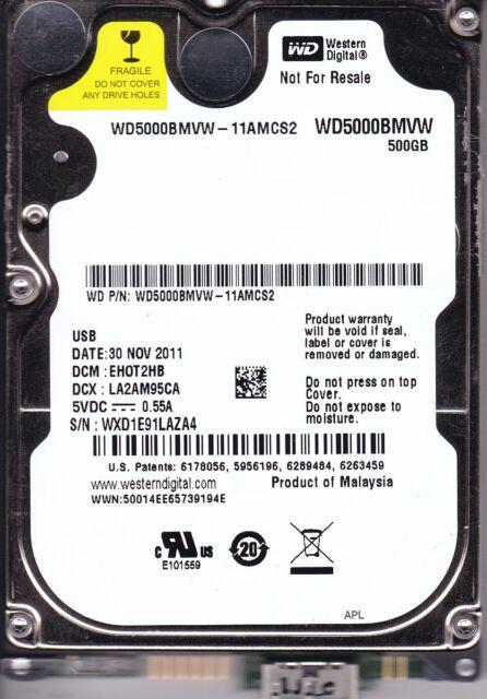 Western Digital WD5000BMVW-11AMCS2 dcm: EHOT2HB 500GB USB 3.0 B12-02
