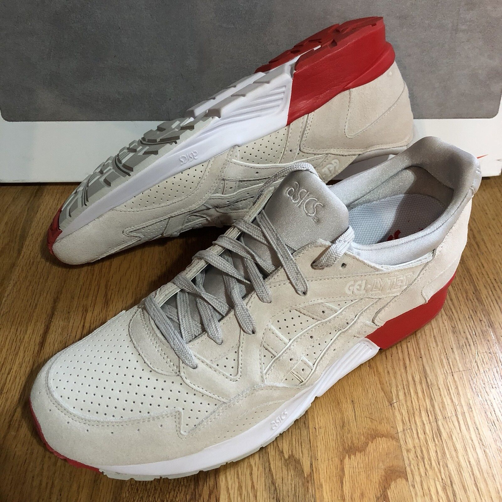 Cocaína cobra Asics Gel Lyte Para Hombre Correr Atléticos Zapatos blancoo Rojo Nuevo