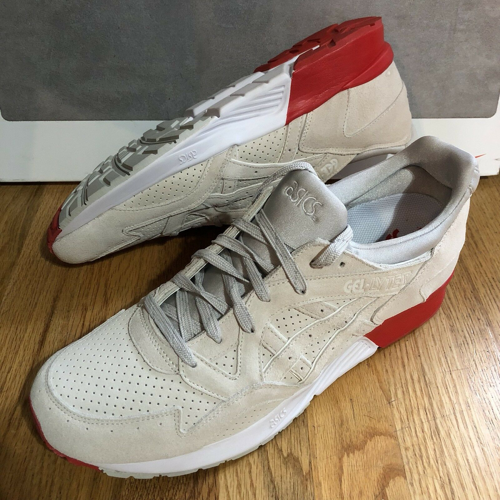 Cocaine Cobra Asics Gel Lyte Homme Taille 13 FonctionneHommest Chaussures De Sport Rouge Blanc Neuf