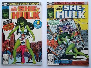 The Savage She-Hulk #1 & #2 Lot (1980, Marvel) ORIGIN & FIRST APPEARANCE