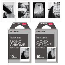 Fujifilm Fuji Mini 20 Monochrome Mono Film Photos For Instax 7s 8 70 90 Camera