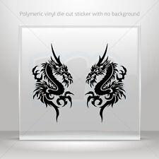 Stickers Decal Pair Of Dragons Car Motorbike Bike vinyl bike st7 WRSRS