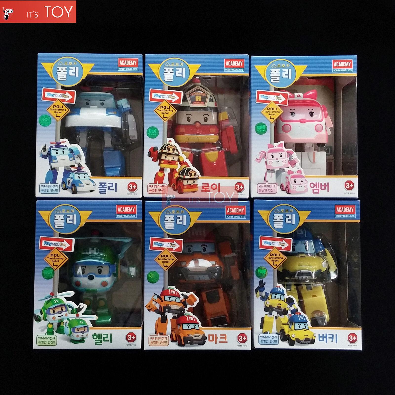 Robocar POLI ROY AMBER HELLY MARK BUCKY Transformers 6PCS Transforming Figures 6PCS Transformers a0cf0f
