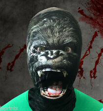 GORILLA 3D EFFECT FACE SKIN LYCRA FABRIC FACE MASK HALLOWEEN GRIM REAPER SCARY