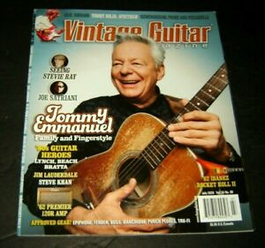 VINTAGE GUITAR MAGAZINE July 2020 Vol. 34 No. 09 Tommy Emmanuel Joe Satriani