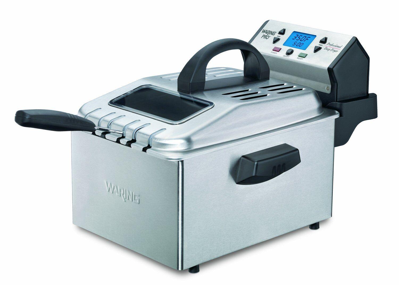 Waring Pro DF280 1800 W Avec Minuterie Numérique Friteuse en acier inoxydable brossé