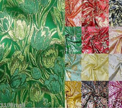 best Chinese metallic Asian tulip brocade silk fabric bridesmaid dress drape
