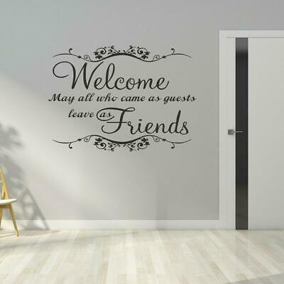 Welcome Guests Wall Art Sticker Hallway Living Room Quote Vinyl ...