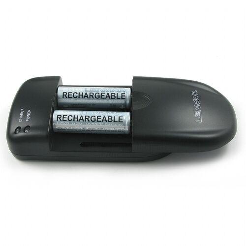 Lenmar Universal Battery Charger For AA AAA 9V Li-Ion NiMH NiCD /& More  BCUNI