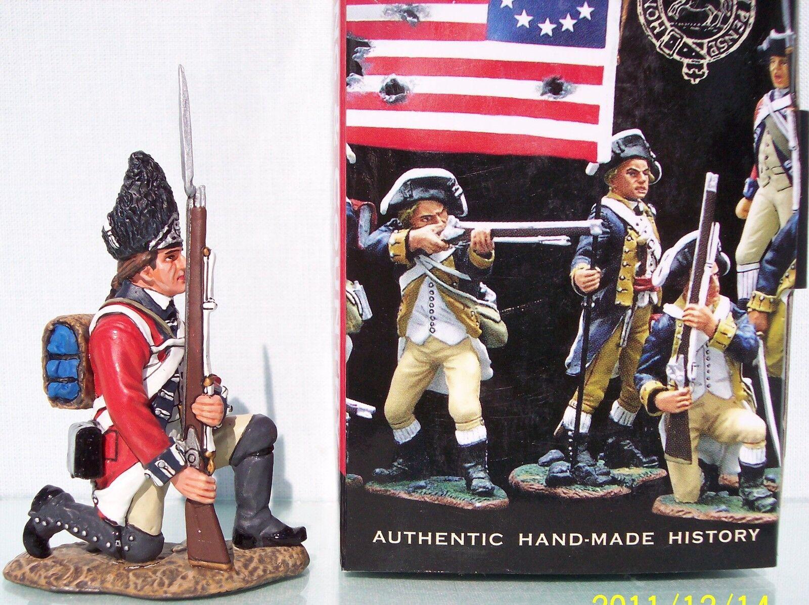 KING & COUNTRY BRITISH REVOLUTIONARY BR081 FUSILIER KNEELING READY MIB