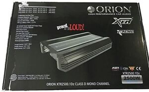 Details about Orion XTR25001DZ XTR Series Class D Car Amplifier 2500 Watts  MONOBLOCK XTR2500 1