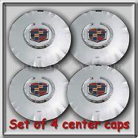 Set 4 Of Chrome 2010-2011 Cadillac Srx 18 Wheel Center Caps Replica Hubcaps