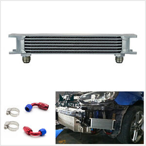 Professional-Car-7-Row-AN10-Engine-Transmission-Oil-Cooler-amp-2-Hose-End-Fittings