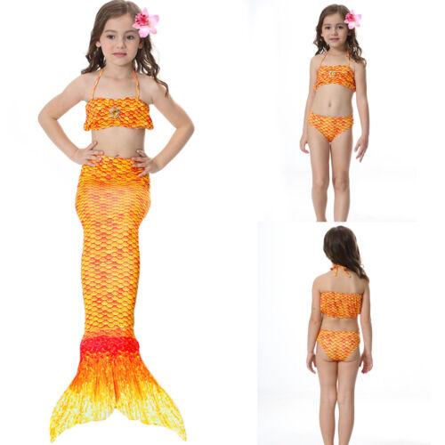 Mädchen Meerjungfrau Kostüm Bademoden Badeanzug Schwanzflosse Monokini Bikini