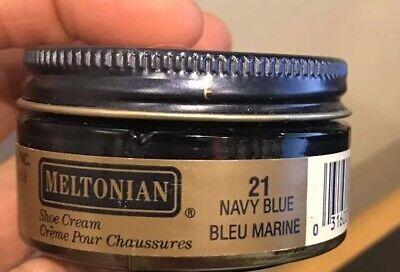 8cea77ee88448 New Meltonian NAVY BLUE #21 Boot Shoe Handbags Exotic CREAM POLISH Leather  Goods | eBay