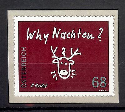 """Österreich Ab 1945 3242 Österreich 2015 """" Why Nachten """" 68 Cent Sk ** Beneficial To Essential Medulla"""