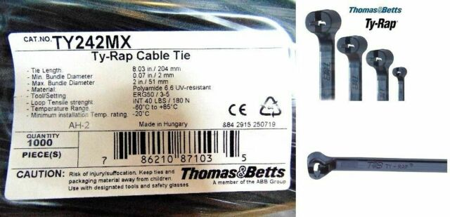 T/&B TY253MX Cable Tie 50lb 11 Ultraviolet
