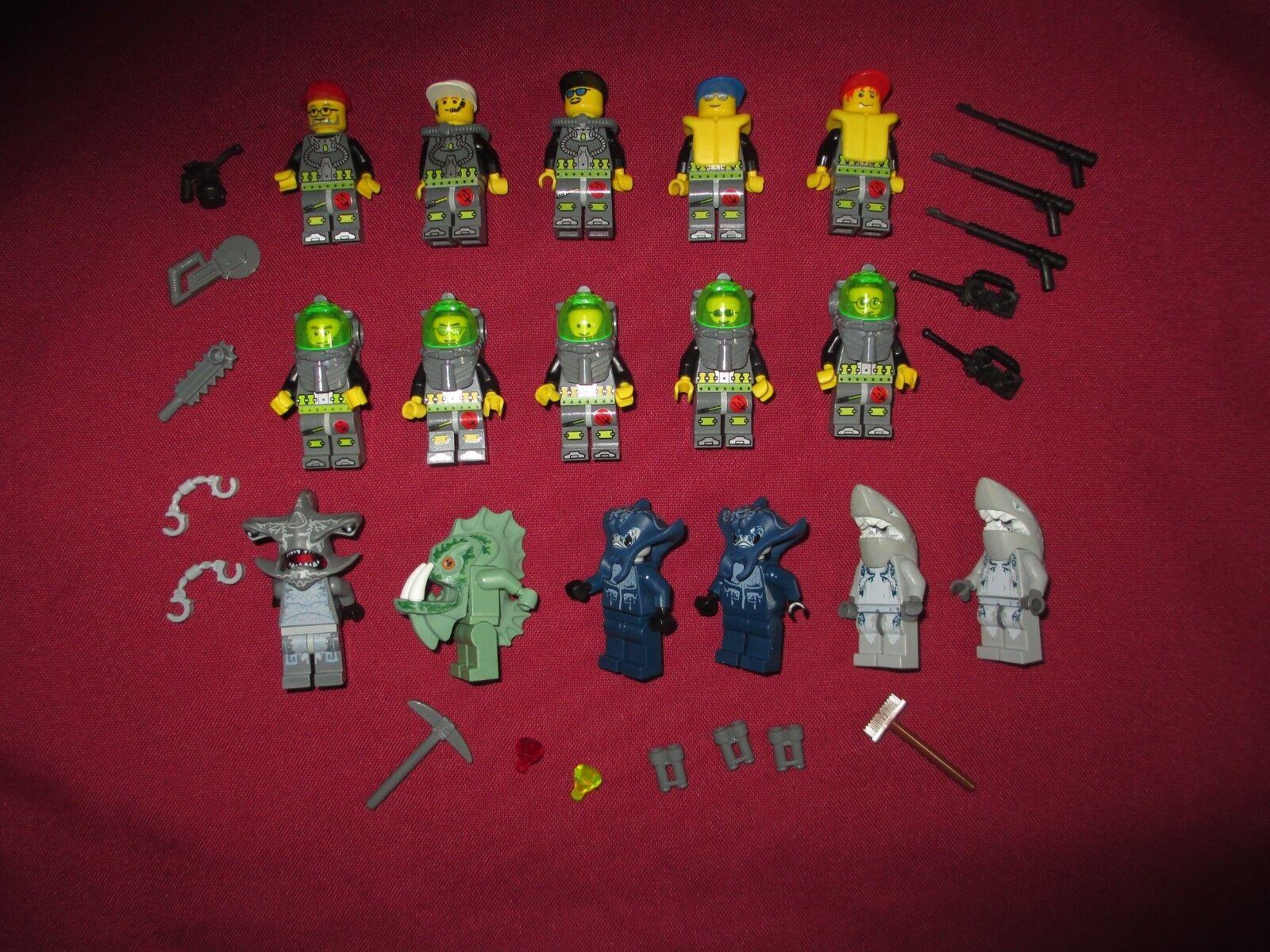 LEGO Atlantis Minifigures Lot. Sea Creatures,16  total figures & weapons