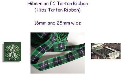 Hibernian FC Tartan Ribbon~16mm~2 metre length~Free Postage