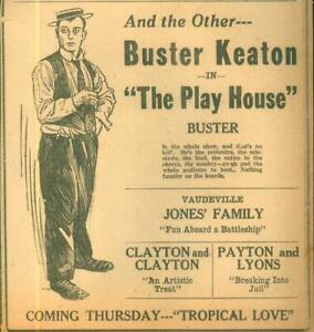 Advertising-Newspaper-Buster-Keaton-in-The-Play-House-Vaudeville-Evansville-1921