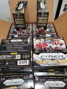 1-NFL 2020 Panini Prizm Football Sealed 10-Pack Mega Box Burrow Herbert Rookies