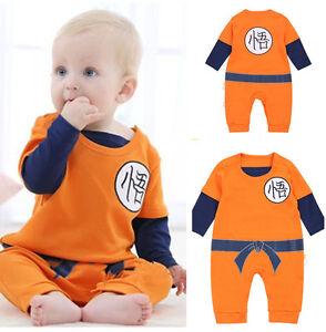 Das Bild wird geladen Dragonball-Z-DBZ-Kostuem-Son-Goku-Baby-Toddler- 8e8dea93a04c