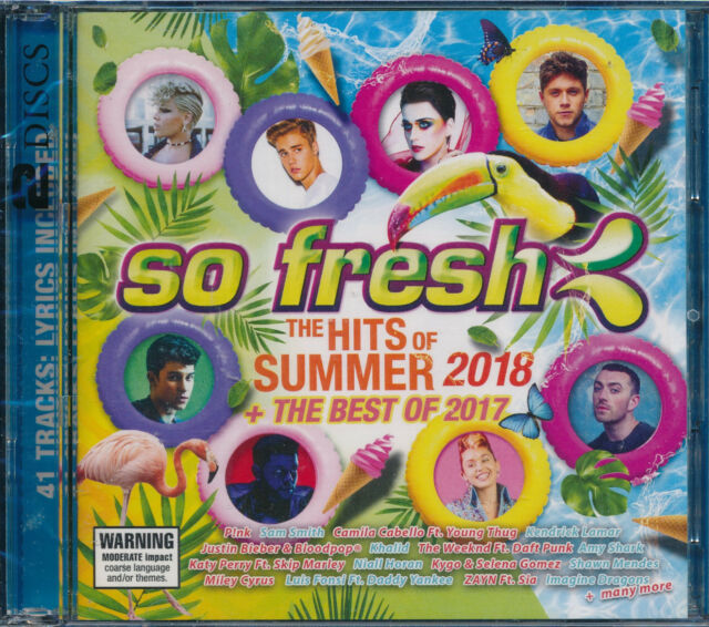 So Fresh The Hits Of Summer 2018 Best Of 2017 2-disc CD NEW Sam Smith Mendes