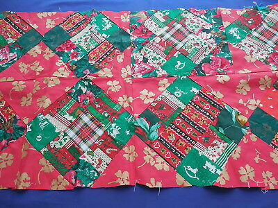 Vintage Handmade Patchwork Christmas Runner To Be Completed Ebay