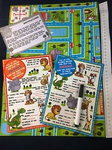 1-60pcs-Learning-and-Giving-Directions-Pack-Educational-Wipe-Clean-Map-Cards