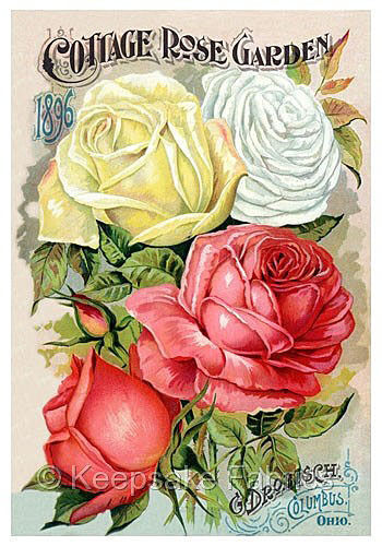 1896 Cottage Rose Garden Quilt Block Multi Sizes FrEE ShiPPinG WoRld WiDE