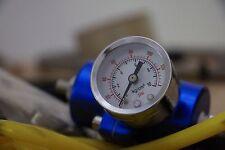 Regolatore di pressione diesel o benzina manometro universale colore Blu Blue