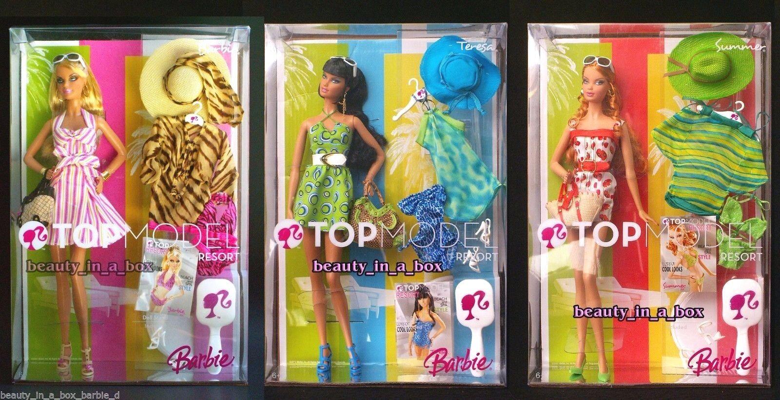 Top Model Resort Teresa Doll Summer Barbie Collector Pop Culture Fashion Lot 3VG