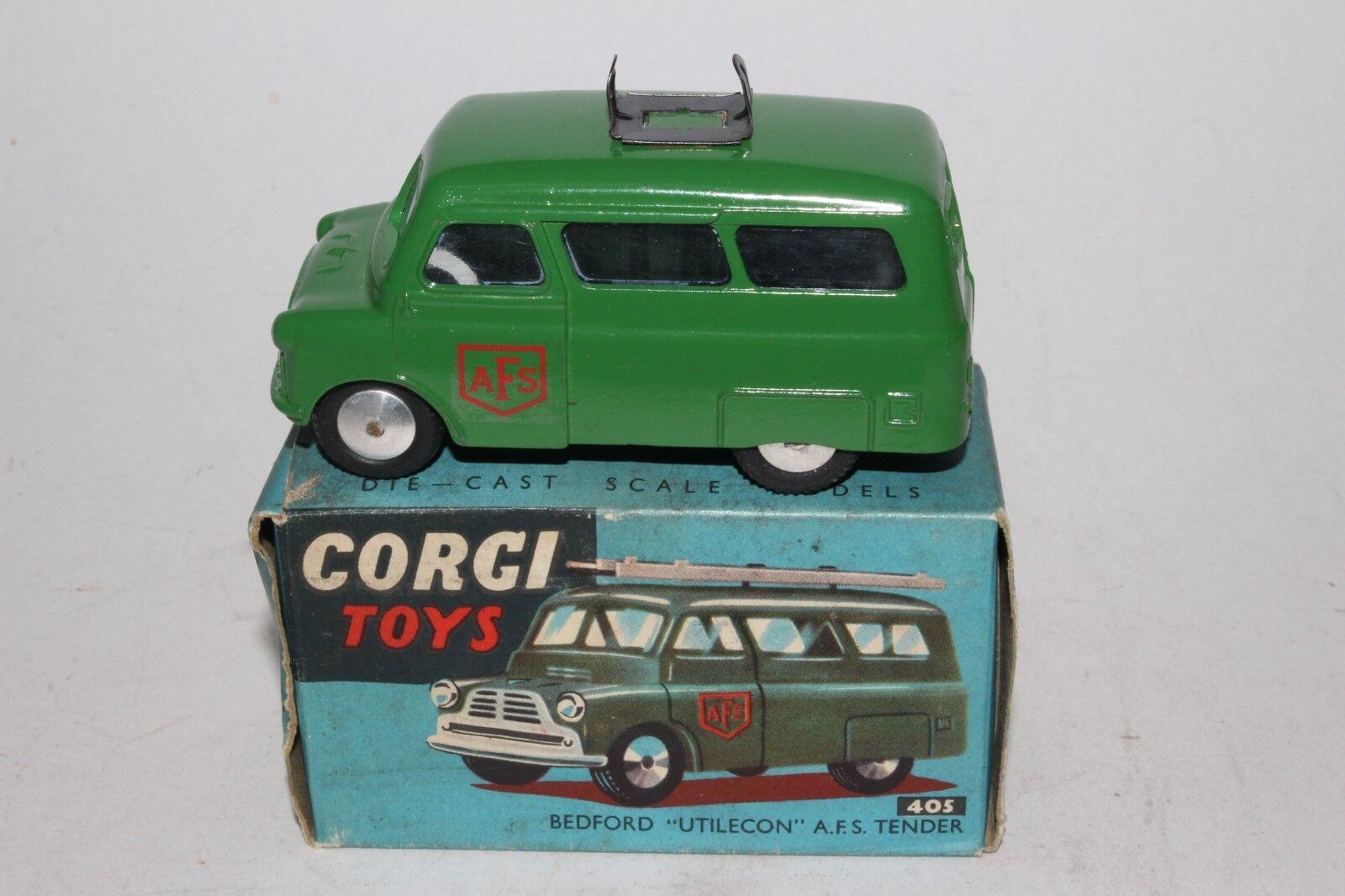 Corgi Juguetes,  405 camión de servicio de utilidad, década de 1950 Bedford, en Caja Original