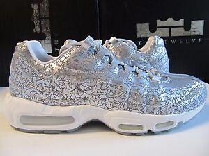 detailing 564a5 58773 Image is loading Nike-Air-Max-95-ANNIVERSARY-QS-Pure-Platinum-