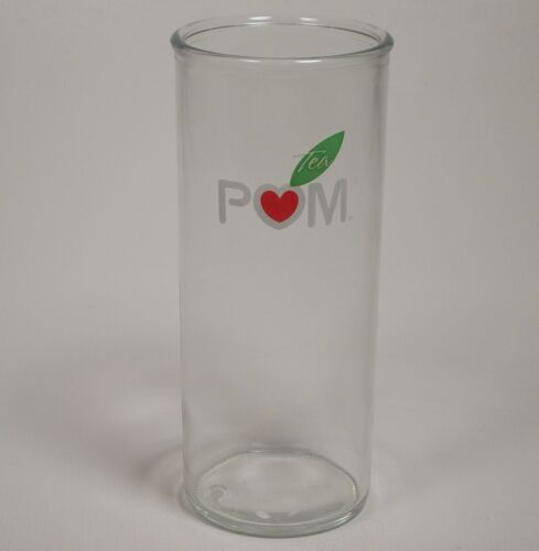 Pom Tea Glass Glasses Red Heart Green Tea Leaf Tall Beverage Glass