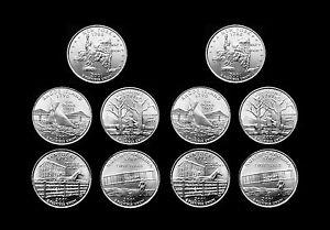 2001-P-D-New-York-North-Carolina-Rhode-Island-Vermont-Kentucky-US-Mint-Roll-Set
