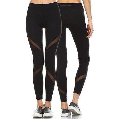 UK Womens Sports Gym Yoga Running Fitness Leggings Pants Athletic Trousers 6-14
