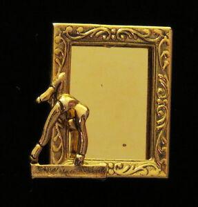 Gymnast-Female-Photo-Pin-24-karat-Gold-Plate-Gymnastic
