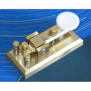 Z55CW-CW-Morse-Key-Brass-Telegraph-Key-for-Morse-Code-Short-ware-Radio-os12