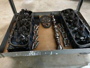Details about Chevy 14097088 502 Big Block Cylinder Heads Rectangular Port  4 Roller Cam BBC