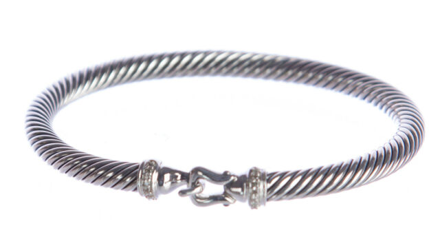 David Yurman Women S Cable Buckle Bracelet With Diamonds 5mm 550 New
