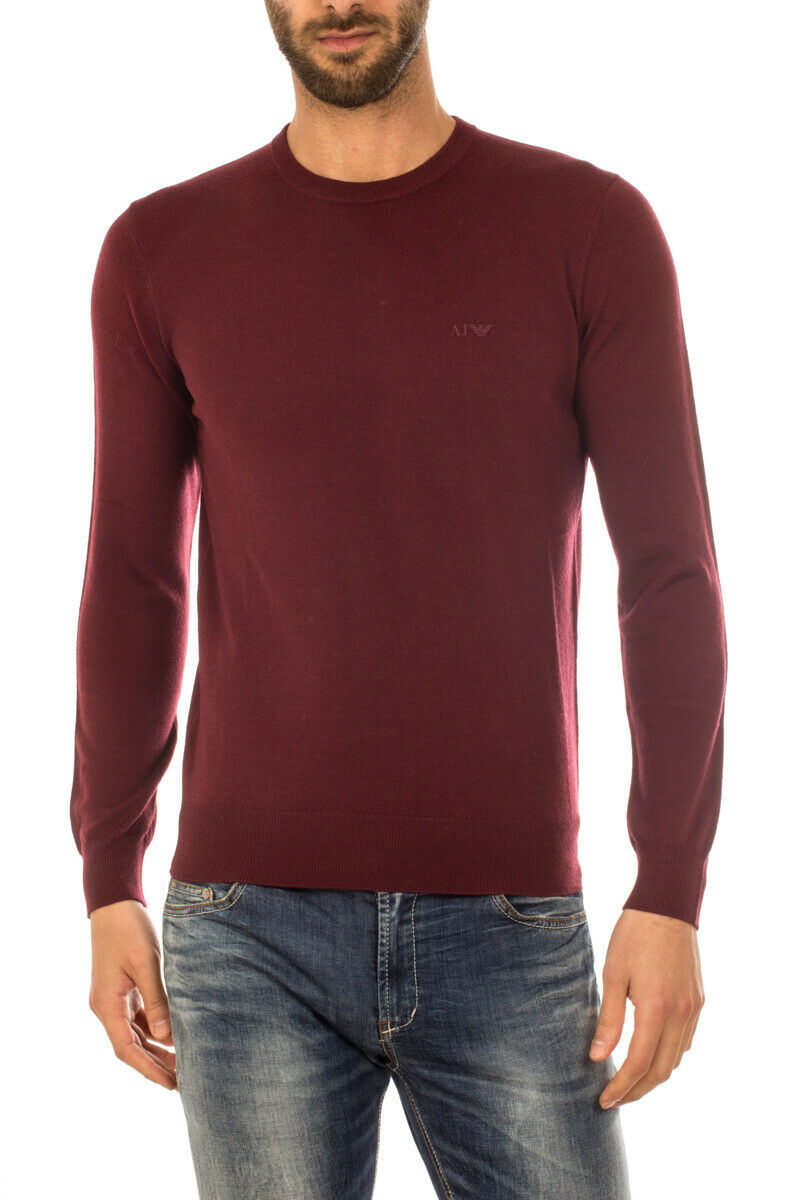 Armani Jeans AJ Sweater REGULAR FIT Man Bordeaux 8N6M916M12Z 1492 Sz.L MAKEOFFER