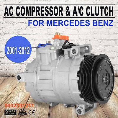 fits  2007-2011 Mercedes-Benz S550 A//C Compressor with Cluth 4.6L,5.5L