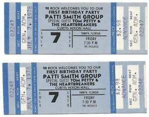 Tom-Petty-Concert-Ticket-Set-of-2-1978-Tampa-Blue