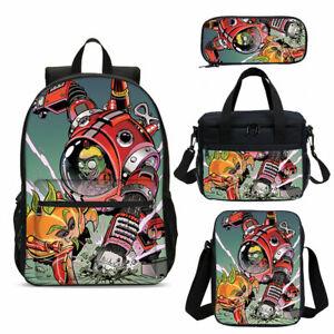 Plants VS Zombies Kid/'s SchoolBag Backpack Lunch Bag Cross Body Pencil Case Lot