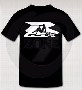 suzuki gixxer girl custom t shirt ebay. Black Bedroom Furniture Sets. Home Design Ideas