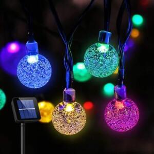 Solar-30-LED-String-Light-Crystal-Ball-Garden-Yard-Decor-Lamp-Outdoor-Waterproof
